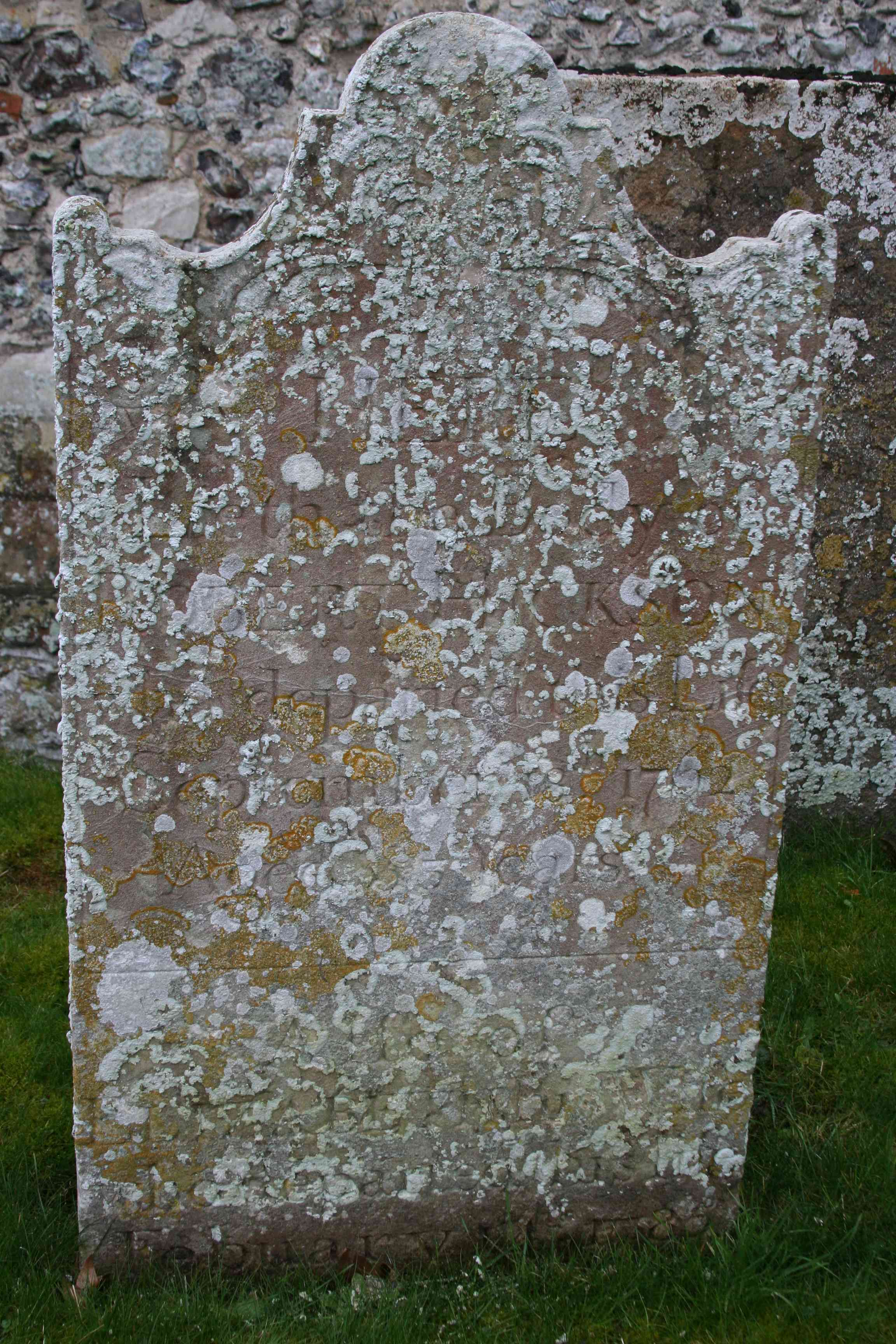 headstone before cleaning